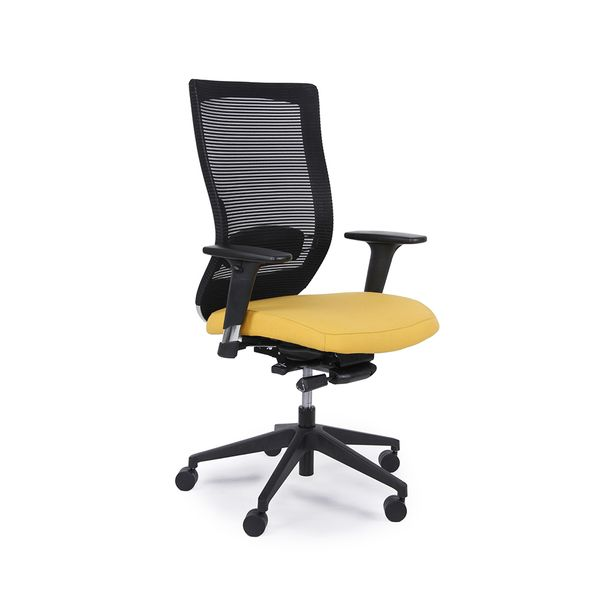 Cadeira-Giroflex-Giratoria-Goal-Amarela-PU-