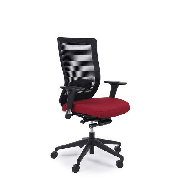 Cadeira-Giroflex-Giratoria-Goal-Vermelha-PU