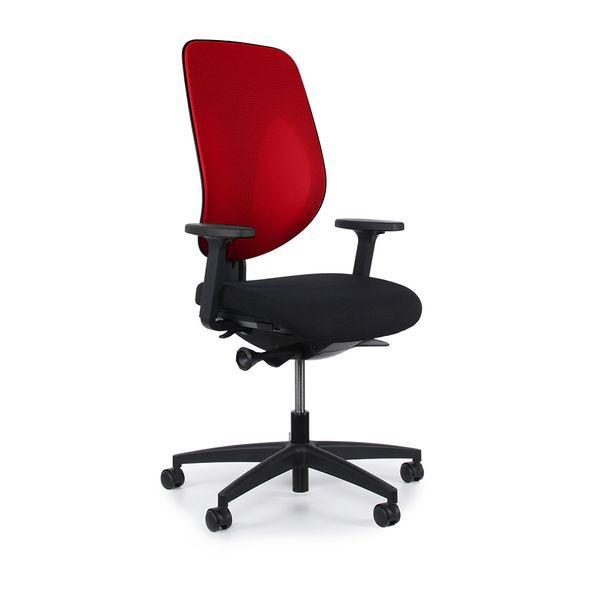 Cadeira-GIROFLEX-Escritorio-Giratoria-vermelha-G353-PU
