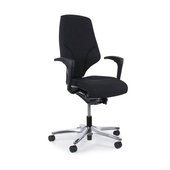 Cadeira-Giroflex-Giratoria-Aluminio-G64-Preta