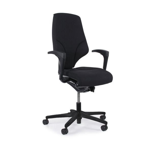 Cadeira-Giratoria-Escritorio-Giroflex-Giratoria-Aluminio-G64-Preta