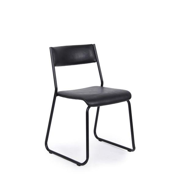 Cadeira Giroflex Fixa Girostack Preta