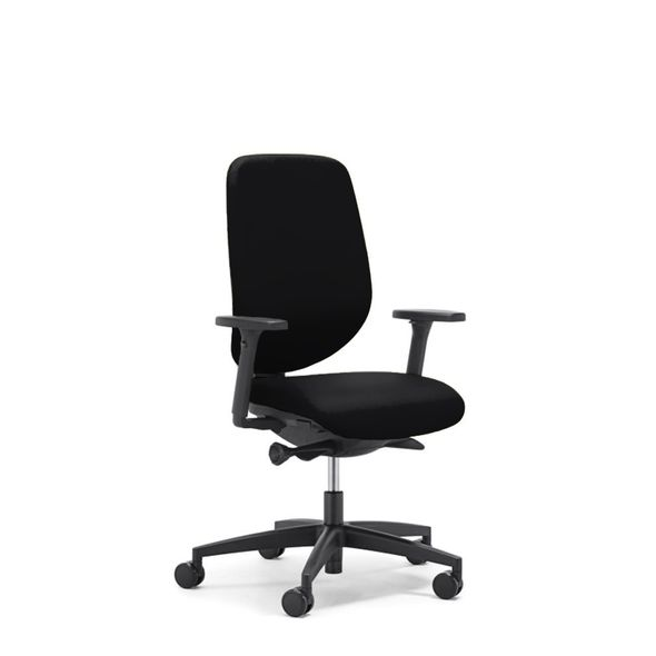 Cadeira-Giratoria-Giroflex-353-Preta-PU